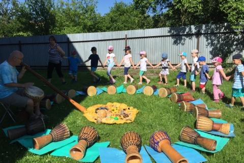 Veselé bubnování - oslava Dne dětí